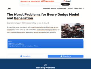 dodgeproblems.com screenshot