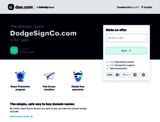 dodgesignco.com screenshot