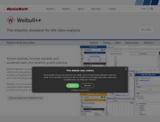 doe.reliasoft.com screenshot