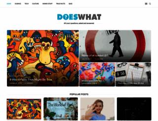 doeswhat.com screenshot