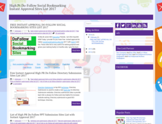 dofollowsocialbookmarkingsiteslists.blogspot.in screenshot