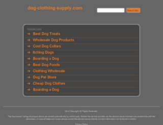 dog-clothing-supply.com screenshot