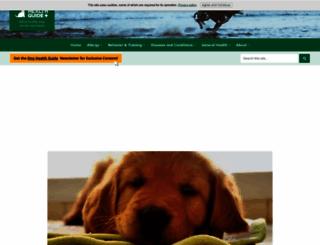 dog-health-guide.org screenshot
