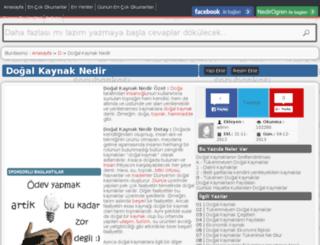 dogal-kaynak.nedirogren.com screenshot