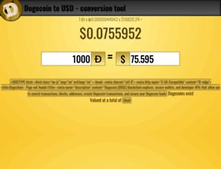 dogecointousd.com screenshot