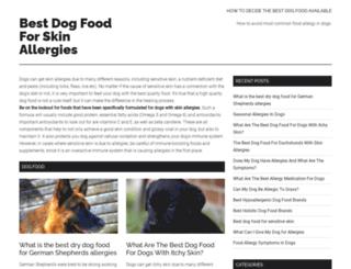dogfoodskinallergies.com screenshot