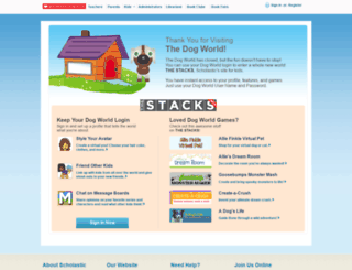 dogfun.scholastic.com screenshot