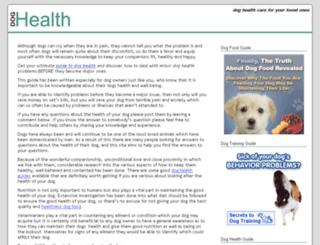 doghealthquestions.org screenshot