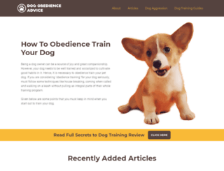 dogobedienceadvice.com screenshot