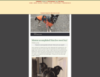 dogsforlife.tripawds.com screenshot