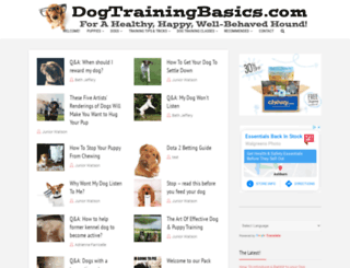 dogtrainingbasics.com screenshot