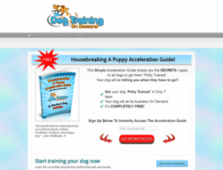 dogtrainingondemand.com screenshot