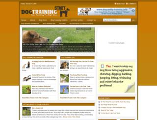dogtrainingstart.com screenshot