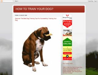 dogtrainingtipsforall.blogspot.in screenshot