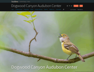 dogwoodcanyon.audubon.org screenshot