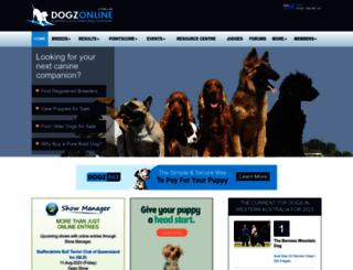 dogzonline.com.au screenshot