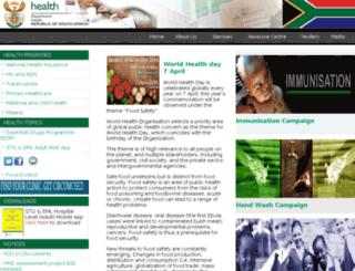 doh.gov.za screenshot