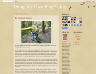 doingmyownblogthing.blogspot.com screenshot