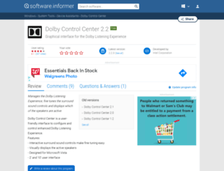 dolby-control-center.software.informer.com screenshot