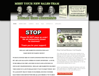 dollarcardmarketing.com screenshot