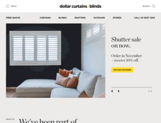 dollarcurtains.com.au screenshot