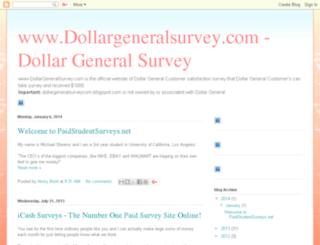 dollargeneralsurveycom.blogspot.com screenshot