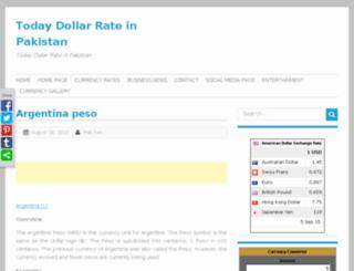 dollarrateinpakistan.com screenshot