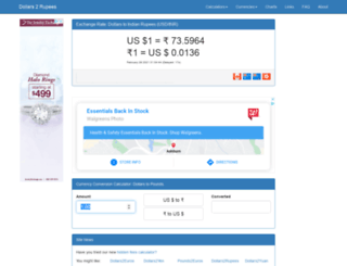 dollars2rupees.com screenshot