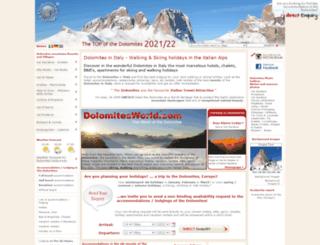 dolomitesworld.com screenshot