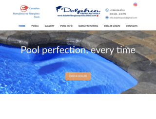 dolphinfiberglasspoolscanada.com screenshot