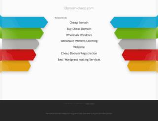 domain-cheap.com screenshot