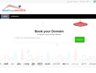 domain.bhartiwebinfotech.com screenshot