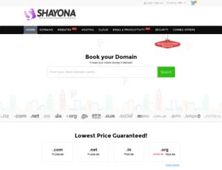domain.shayona.biz screenshot