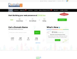 domain2hosting.co.in screenshot