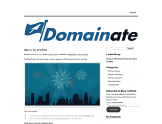 domainate.wordpress.com screenshot