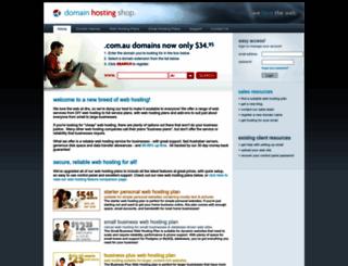 domainhostingshop.com.au screenshot