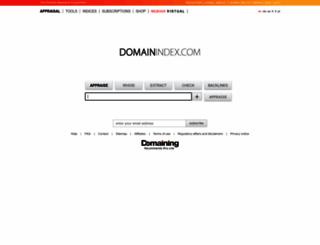 domainindex.com screenshot