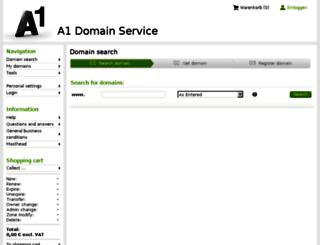 domainmanager.a1.net screenshot