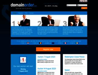 domainorder.com screenshot