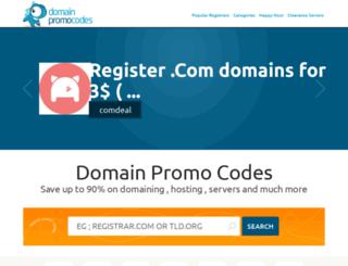 domainpromocodes.com screenshot