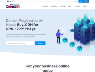 domainregistrationinnepal.com screenshot