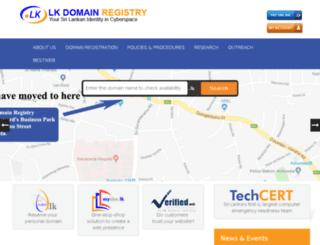 domains.nic.lk screenshot