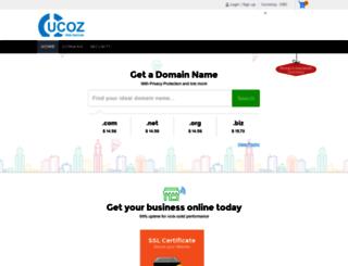 domains.ucoz.com screenshot