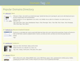 domaintaglist.com screenshot