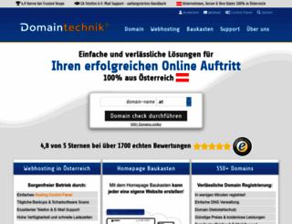 domaintechnik.at screenshot