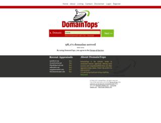 domaintops.com screenshot