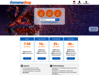 domeneshop.no screenshot