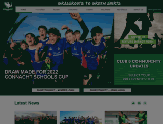 domestic.connachtrugby.ie screenshot