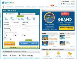 domesticflights.yatra.com screenshot