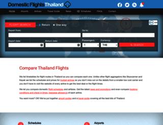 domesticflightsthailand.com screenshot